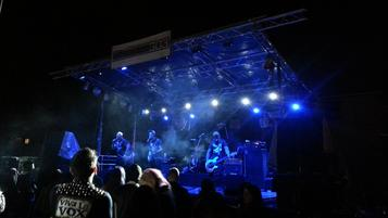 Lighting for Special Events.  LED Lighting for outdoor stage live music.