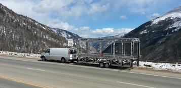 Light Weight equals GO ANYWHERE!  Mobile Stage on Berthoud Pass.